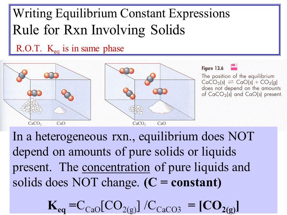 Keq =CCaO[CO2(g)] /CCaCO3 = [CO2(g)]